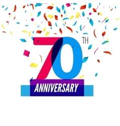 Anniversary design 70th icon anniversary vector