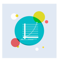 arrow chart curve experience goal white glyph vector image