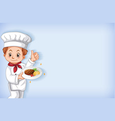 Background template design with happy chef with vector