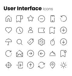 basic app and web ui icon set vector image