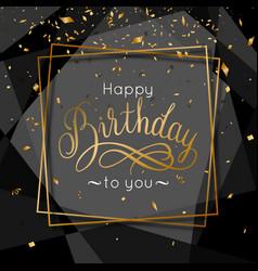 birthday congratulations greeting card vector image