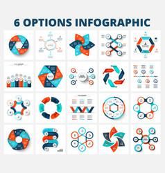 bundle infographics elements business vector image
