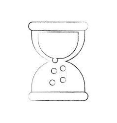 business sand clock time plan work vector image