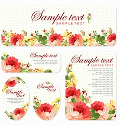 card with Beautiful roses vector image