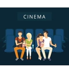 Cinema with people vector