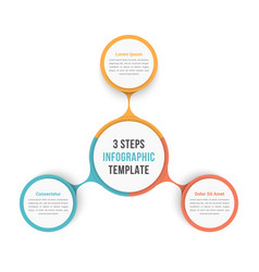 Circle diagram with three steps vector