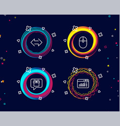 Computer mouse sync and wish list icons web vector
