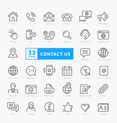 Contact us icon set eps10 vector