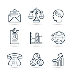 corporate commerce icon pack vector image