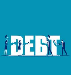 Destruction debt concept business debt vector