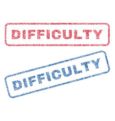 difficulty textile stamps vector image