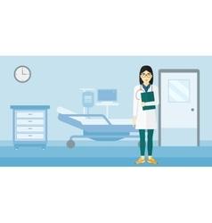 Doctor in hospital ward vector