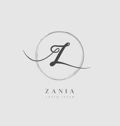 Elegant initial letter type z logo vector