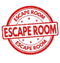 escape room grunge rubber stamp vector image