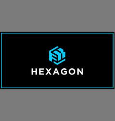 fk hexagon logo design inspiration vector image