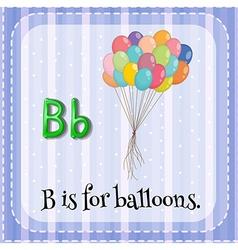 Flashcard letter b vector