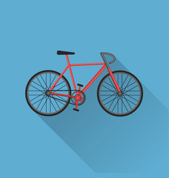 flat style bicycle icon vector image