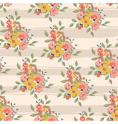 floral pattern with light pink stripes vector image