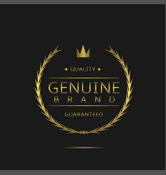 Genuine brand label vector