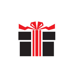 gift - icon on white background vector image