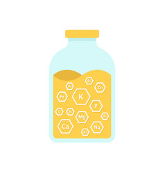 glass jar with honey vector image