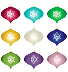 Gradient christmas tree ornaments vector