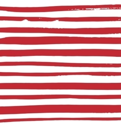 Grunge red and white stripes vector image