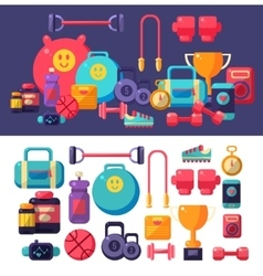 Gym Objects Set vector image