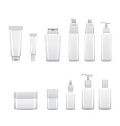 Hair cosmetics packaging set vector