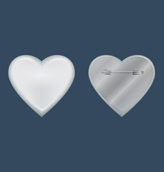 heart badge mockup realistic style vector image