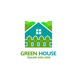 House icon with fence vector