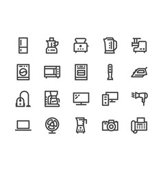household appliances electronics store line icon vector image