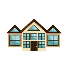 icon house home building isolated vector image