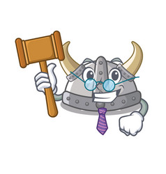 Judge viking helmet in a cartoon vector