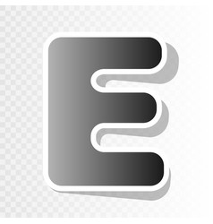 letter e sign design template element new vector image
