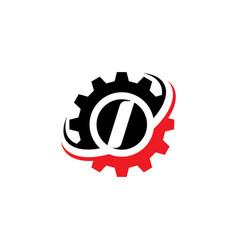 Letter i gear logo design template vector