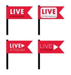 live stream flag shape vector image