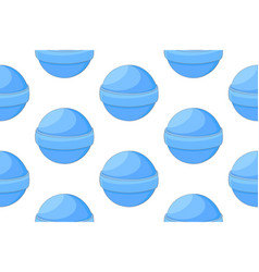 lollipop blue candies seamless pattern vector image