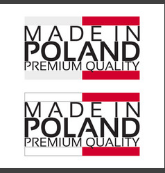 made in poland icon premium quality sticker vector image vector image