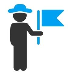 Male Commander Icon vector image