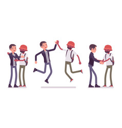 male friends meeting greeting vector image