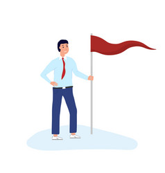 man standing with flag vector image