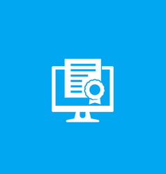 online certification icon vector image