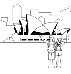 Opera house in sidney design vector