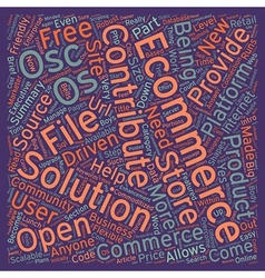 Os Commerce An Intro text background wordcloud vector