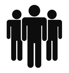 People meeting icon simple style vector