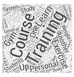 personal training courses Word Cloud Concept vector image