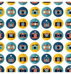 Photo camera set pattern vector image