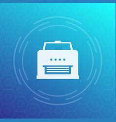 printer icon pictogram vector image