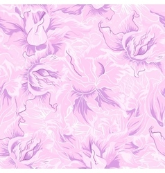 Purple flower seamless pattern vector image